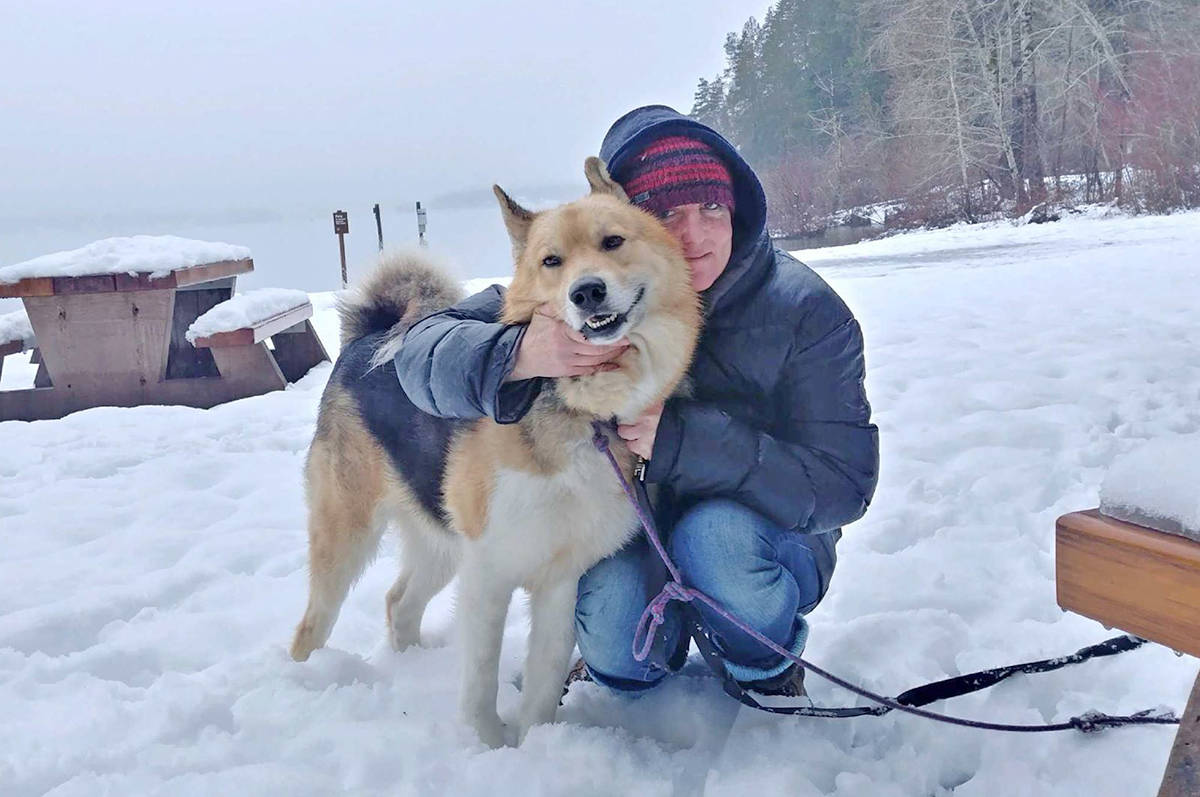 Shannon Boothman was overjoyed to be reunited with her dog Itska in Port Alberni on Sunday after desperately searching for her missing best friend for over two months. (photo courtesy of Shannon Boothman)